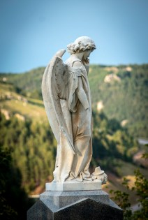 Angel statue in St. Ambrose Cemetery