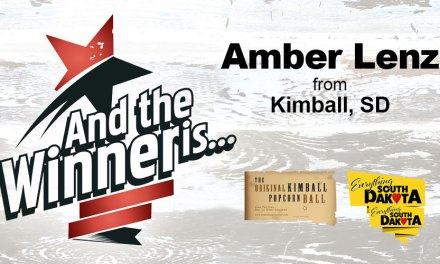 Amber Lenz from Kimball, South Dakota is our October Kimball Popcorn Ball Winner!