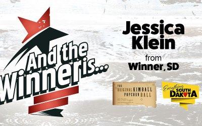 Jessica Klein from Winner, South Dakota is our November Kimball Popcorn Ball Winner!