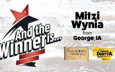 Mitzi Wynia from George, IA is our January Kimball Popcorn Ball Winner!