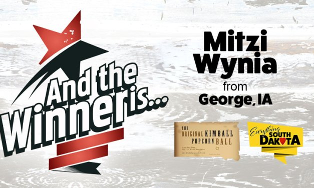 Mitzi Wynia from George, IA is our January Kimball Popcorn Ball Winner!