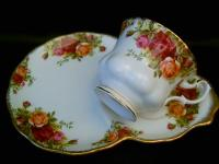 Royal Albert snack/tennis set cup & saucer/plate Old ...