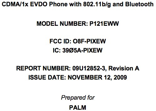WiFi Capable Palm Pixi Clears FCC, Heading for Verizon