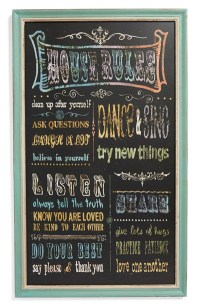House Rules Wall Art | Everything Turquoise