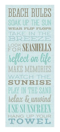 Beach Rules Canvas Wall Art | Everything Turquoise