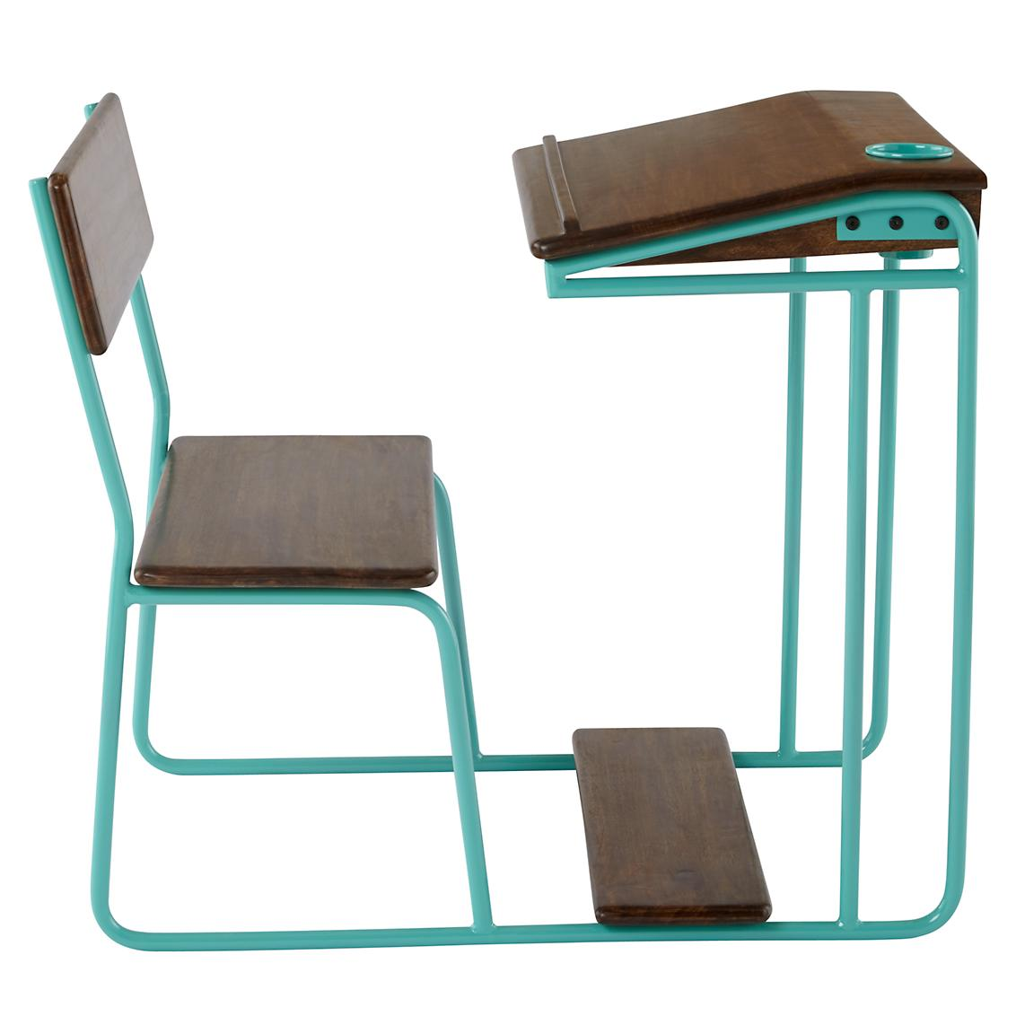 aqua desk chair electric power chairs modern schoolhouse everything turquoise