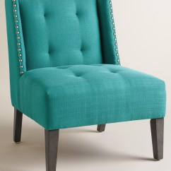 Aqua Desk Chair Black Wingback Peacock Blue Carlin Everything Turquoise