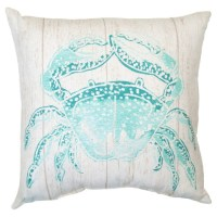 Turquoise Crab Outdoor Pillow | Everything Turquoise
