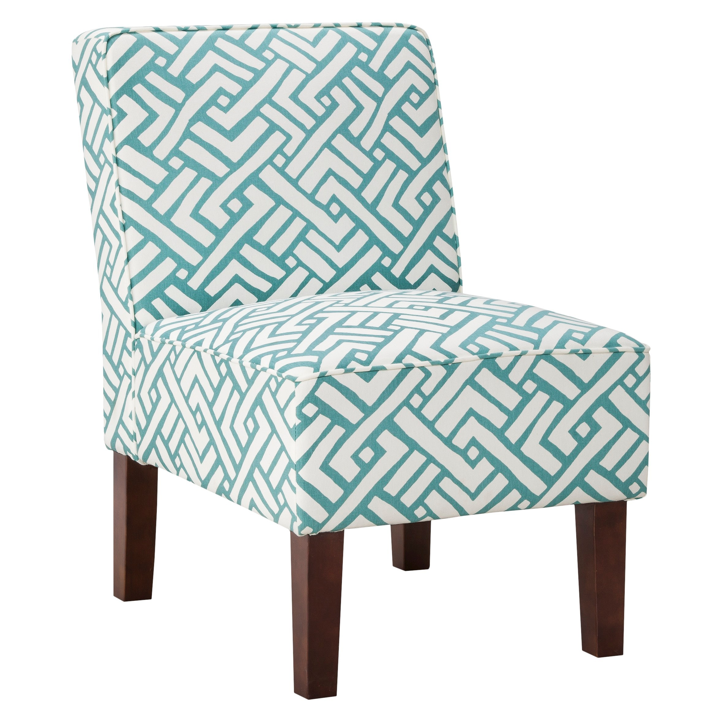 Turquoise Geo Slipper Chair  Everything Turquoise