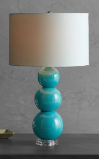 Cerena Ceramic Stacked Table Lamp | Everything Turquoise