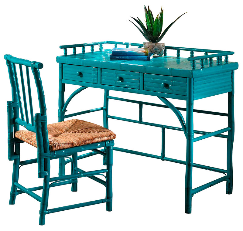 Turquoise Eastbrook Desk and Chair Set  Everything Turquoise