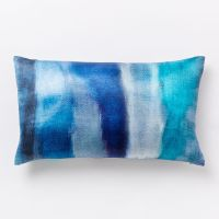 Blue Teal Cloudy Abstract Silk Pillow Cover | Everything ...