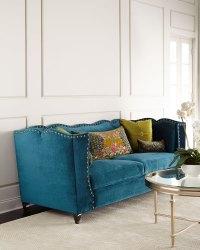 Haute House Santiago Peacock Sofa | Everything Turquoise