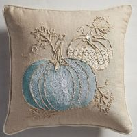 Fall by the Sea Pumpkins Pillow | Everything Turquoise