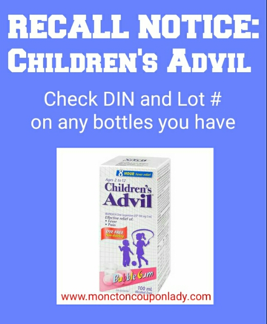 Recall Childrens Advil Everything Unscripted