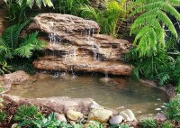 Large Backyard Landscape Pond Waterfall Kits & Fake Rocks