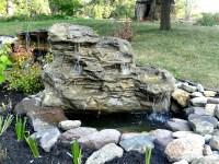 Large Waterfalls, Fake Pool & Pond Backyard Rock Waterfalls