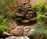 Small Backyard Corner Pond Waterfalls Kits & Artificial Rocks