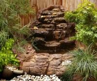 Small Backyard Corner Pond Waterfalls Kits & Artificial Rocks