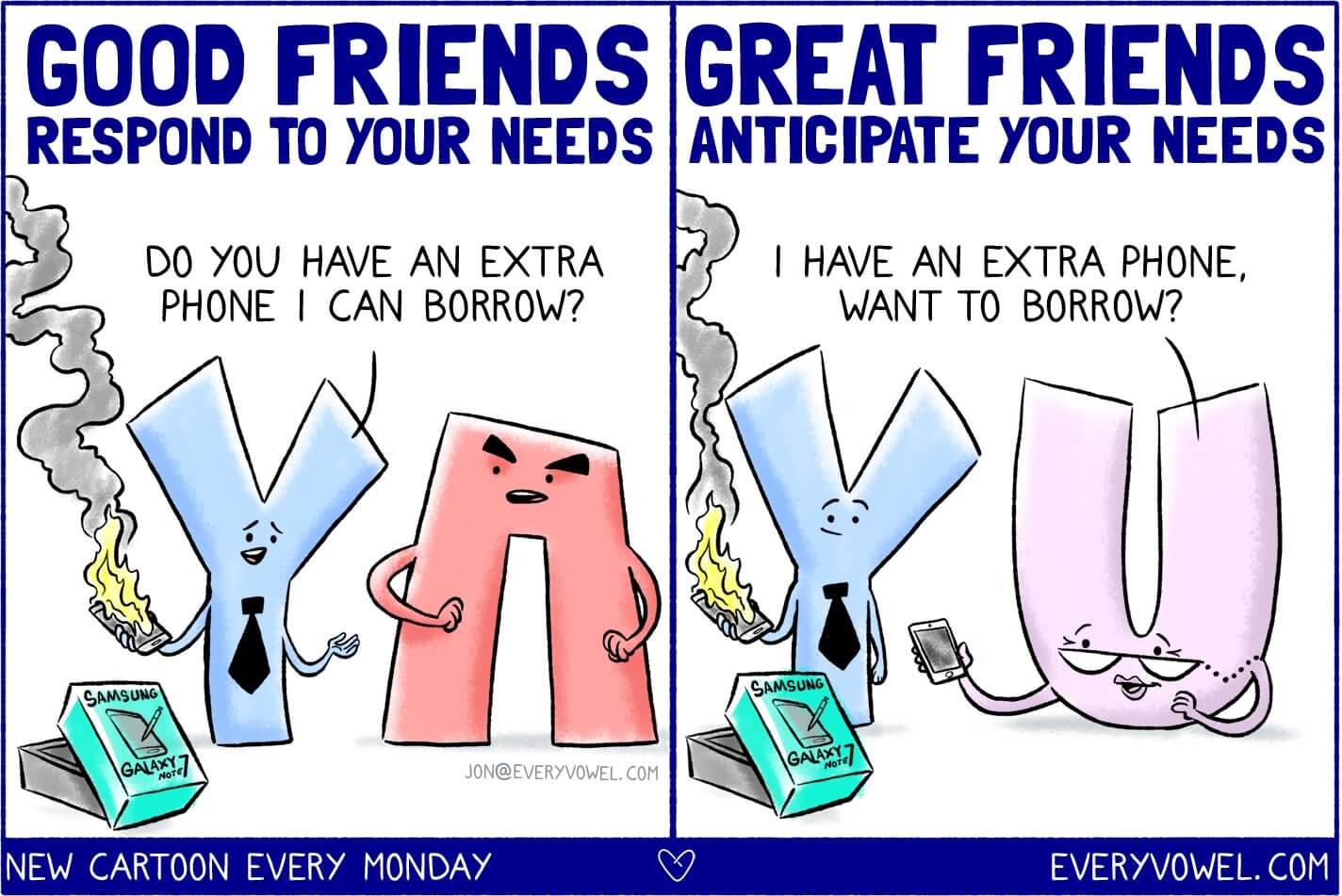 good vs great friends