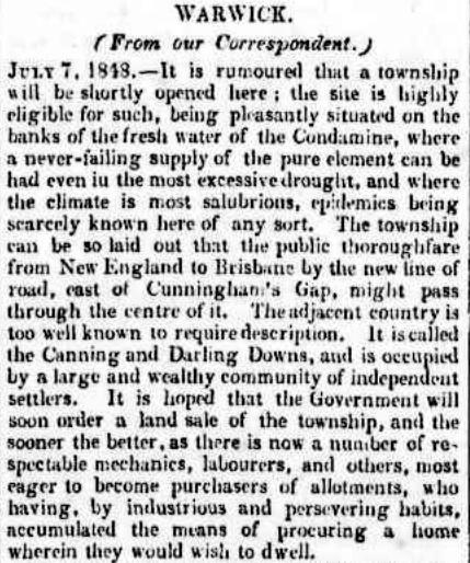 Image result for Warwick Queensland Floods before 1861