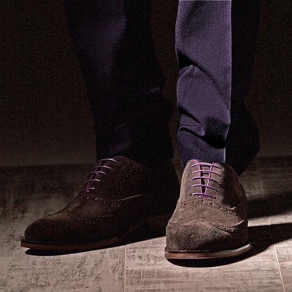 Brown Suede Italian Leather Brogue - Meteor 5