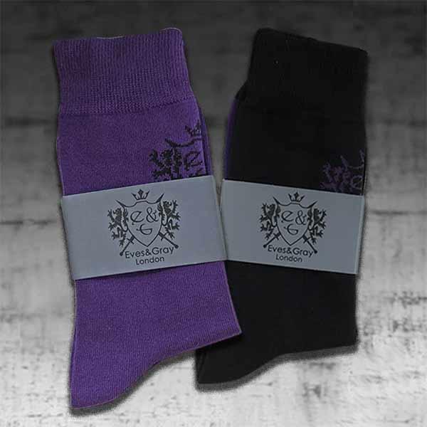 Purple and Black Socks 4