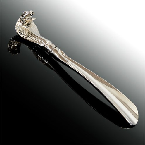 Cobra Headed Metal Shoehorn 3