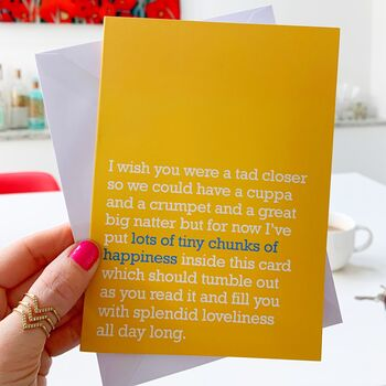 Send and post a message on a postcard to loved ones