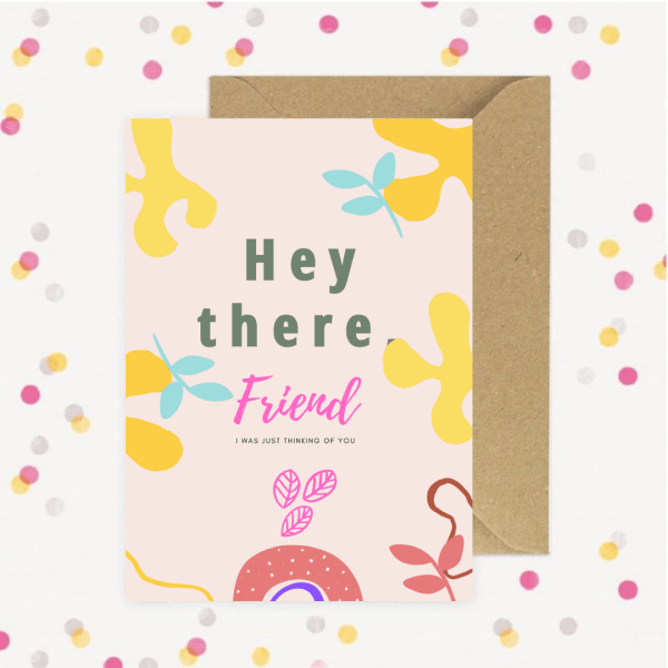 Thiking of you greeting card to your best friend