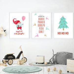 Christmas tree wall art printable for room decor