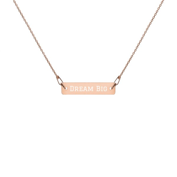 Personalised Sterling Silver Bar Charm Necklace Engraved