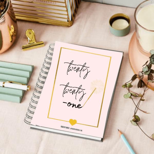 personalised 2021 notebook planner