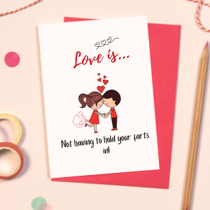 Love is Valentines day card