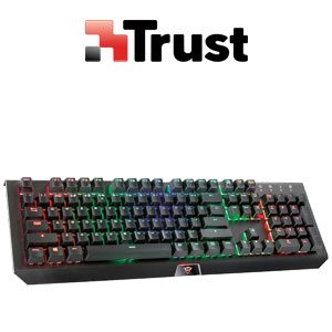 Trust GXT 880 Mechanical Gaming Keyboard 1000hz Polling