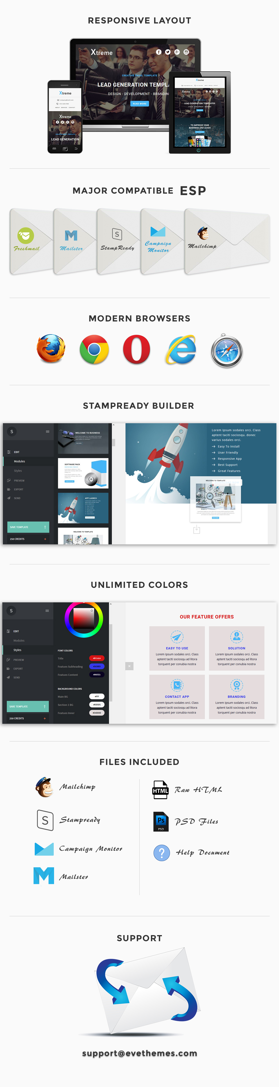 Xtreme - Responsive Email Template + Stampready Builder