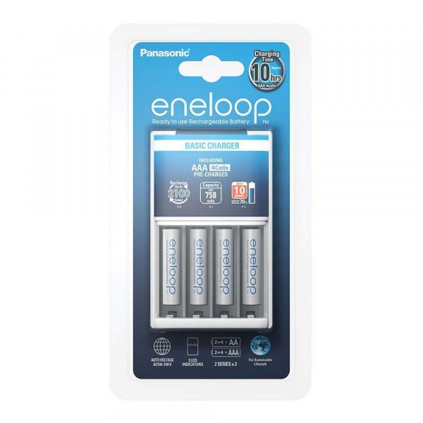 Panasonic Eneloop Basic Charger incl. 4x AAA 750mAh   Eneloop   EVEVO
