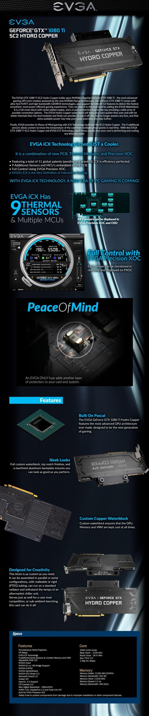 Evga Geforce Gtx 1080 Ti Sc2 Gaming Icx 11gb Video Card