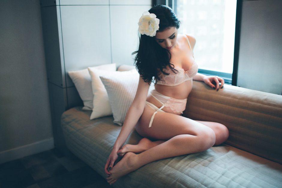 A bridal boudoir photography session