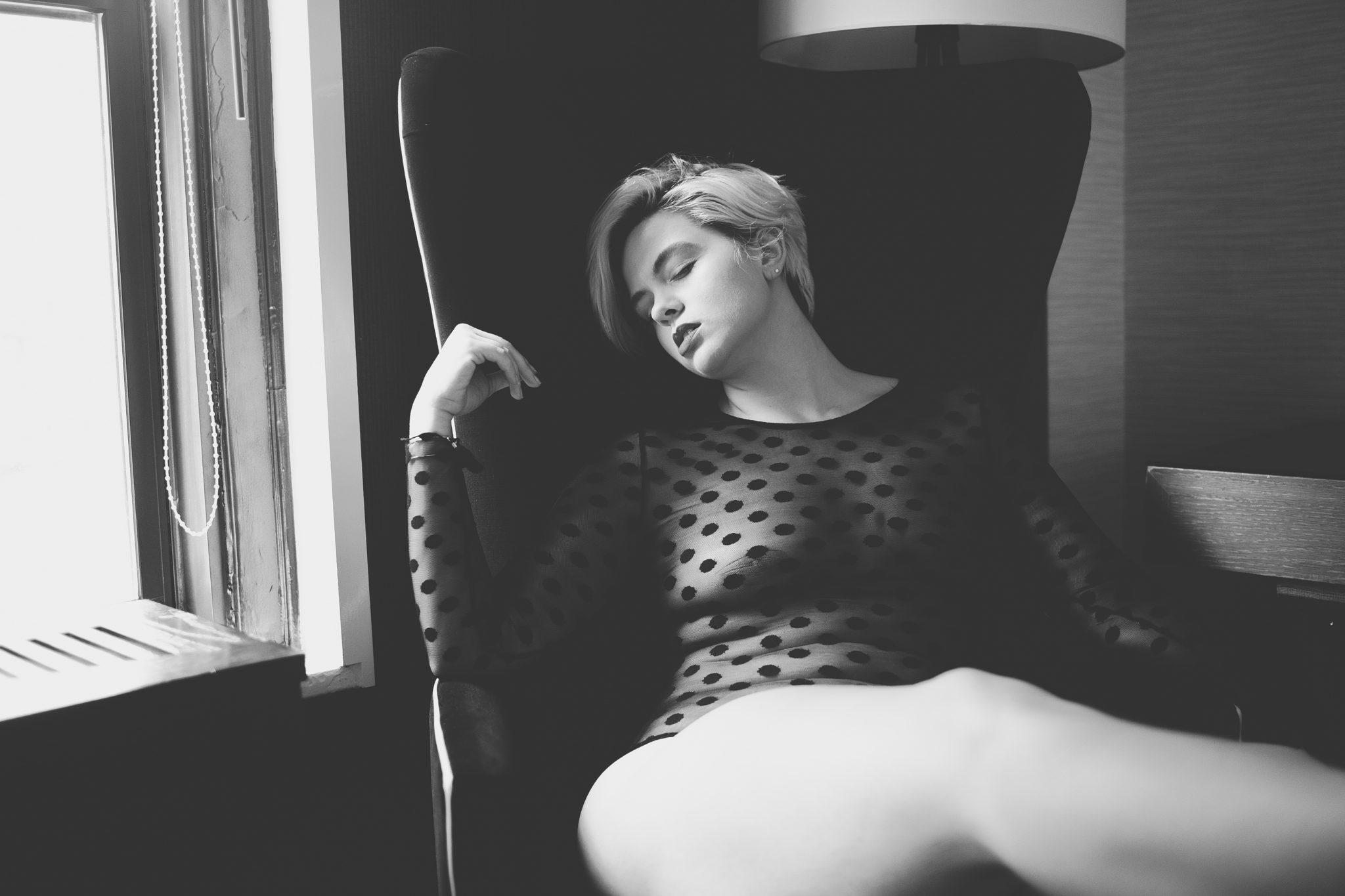 Posing for sexy photos