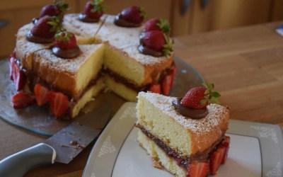 Κέικ Βικτώρια με φράουλες!