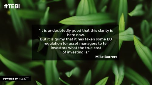Mike Barrett quote about revealing the true cost of investing