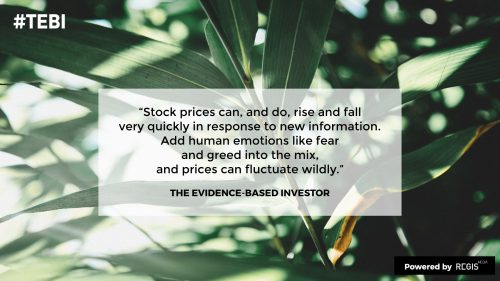 emotions can make stock prices fluctuate, but the wisdom of crowds can help regulate