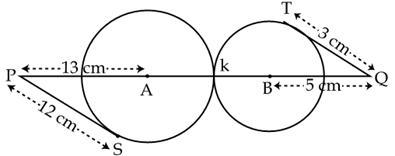 Class 10, Circles, CBSE Online Test Paper (Set-IV)