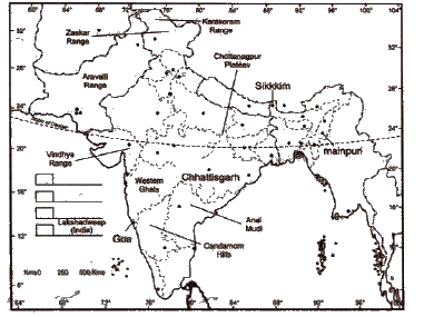 Physical Features of India, Class 9 Geography Sample Papers
