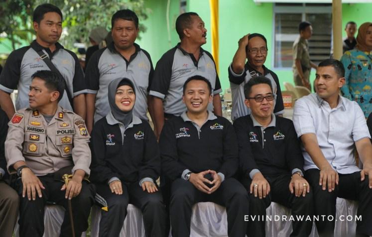 Gubernur Lampung Ridho Ficardo dan Bupati Lampung Timur husnunia Chalim