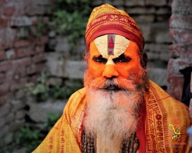 Seorang Shadu dengan dandanannya yang khas