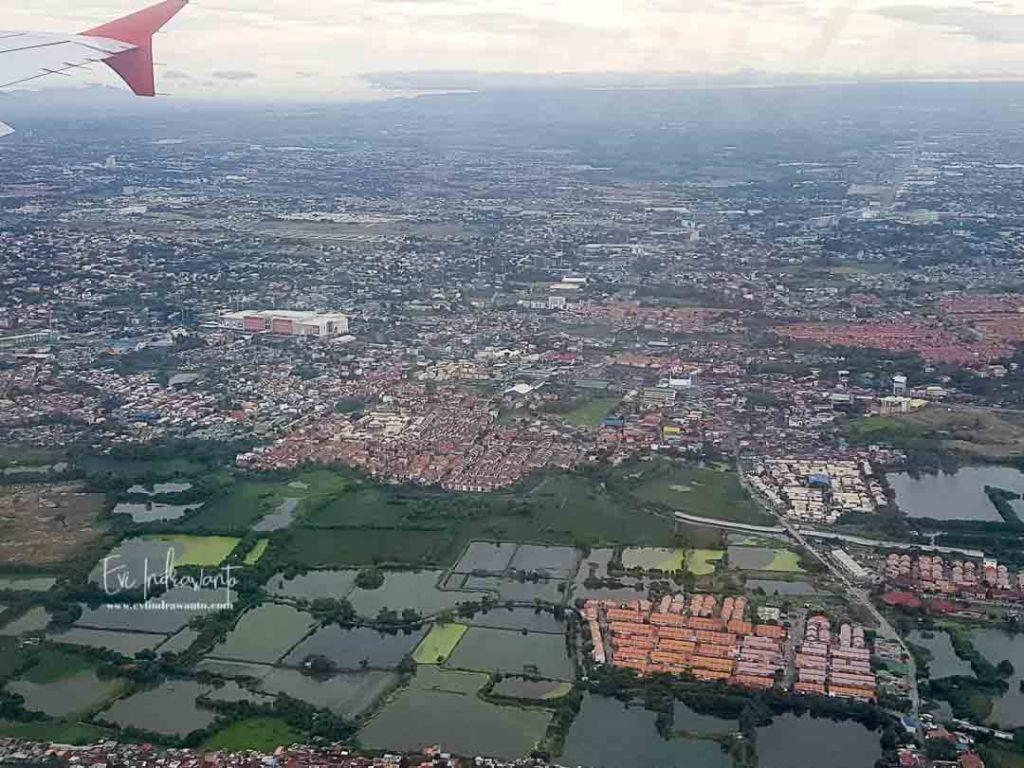 Memulai terbang dari Manila ke Tagbilaran