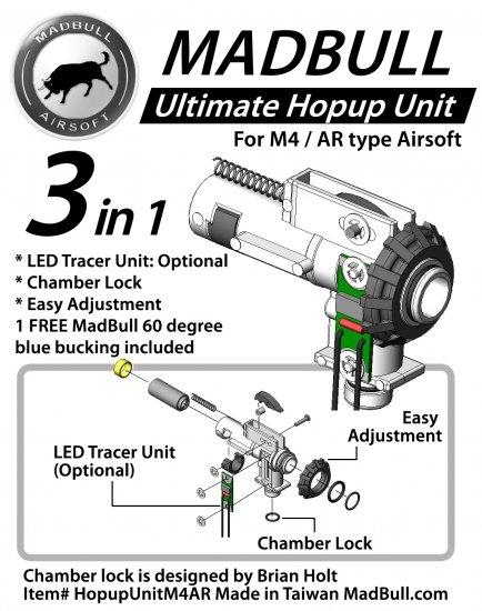 Madbull Airsoft Ultimate Hopup Unit for M4/M16 Series