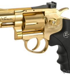 asg dan wesson co2 powered 4 5mm airgun revolver color gold 2 5 snub [ 1200 x 868 Pixel ]